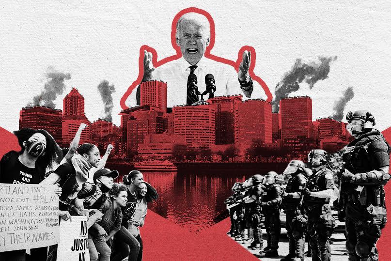 Biden Bows to Radical Left Amid Violent Riots